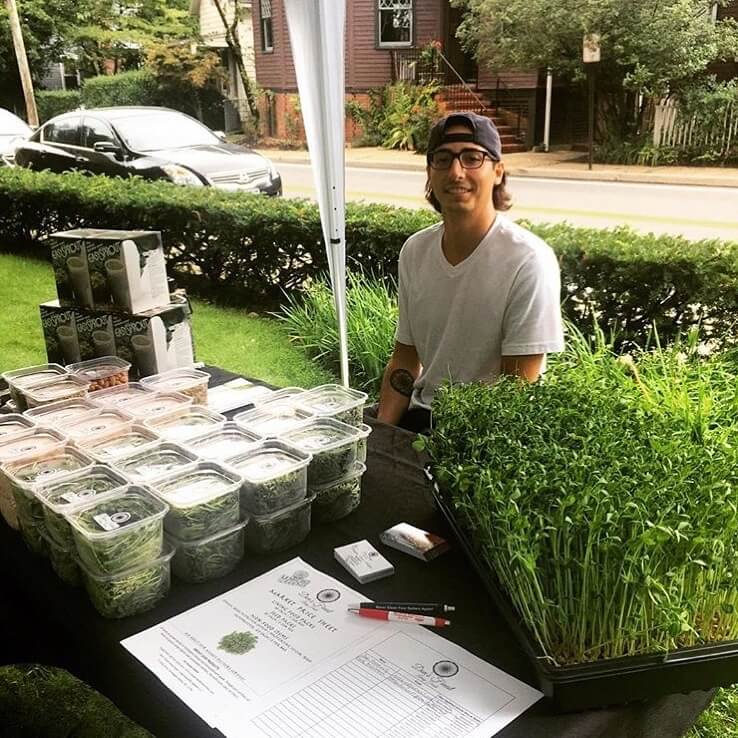 Don Finest Foods Selling Microgreens at one of the farmers markets