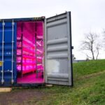 Geoponica's Microgreens Growing Shipping Container
