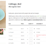 cabbage microgreens seeds